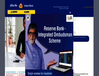 indianbank.net.in screenshot