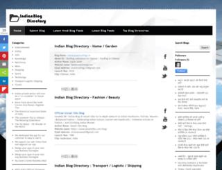 indianblogdirectory.in screenshot