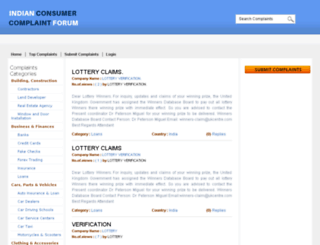 indianconsumercomplaintforum.com screenshot