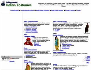 indiancostumes.indianetzone.com screenshot