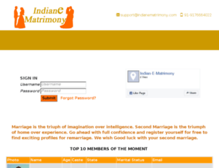 indianematrimony.com screenshot