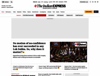 indianexpress.com screenshot