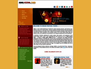 indianfestivaltours.com screenshot