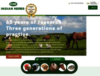 indianherbs.org screenshot