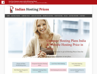 indianhostingprices.in screenshot