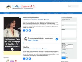 indianinternship.com screenshot