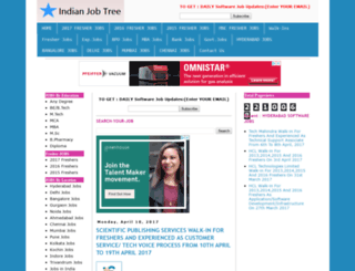 indianjobtree.com screenshot