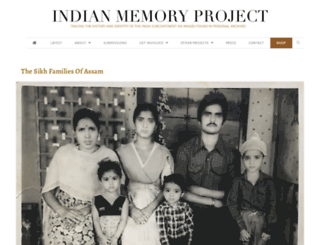 indianmemoryproject.com screenshot