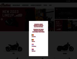 indianmotorcyclebenelux.com screenshot