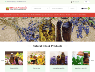indiannaturaloils.com screenshot
