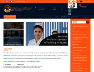 indiannursingcouncil.org screenshot