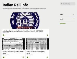 indianrailinfoblog.blogspot.in screenshot