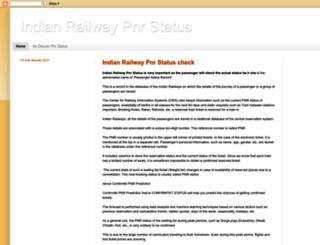 indianrailway-pnrstatus.blogspot.in screenshot