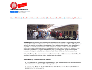 indianrailwayonline.co.in screenshot
