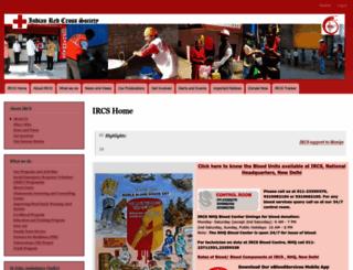 indianredcross.org screenshot