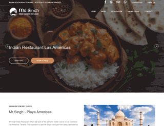 indianrestauranttenerife.com screenshot