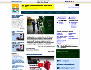 indianriver.floridahealth.gov screenshot
