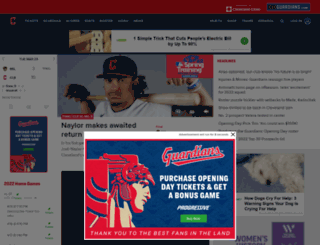 indians.mlb.com screenshot