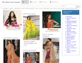 indiansaristore.com screenshot