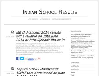 indianschoolresults.com screenshot
