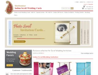 indianscrollweddingcards.com screenshot