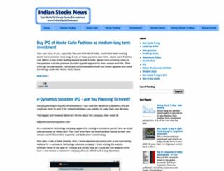indianstocksnews.com screenshot