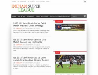 indiansuperleaguelivestreaming.co.in screenshot