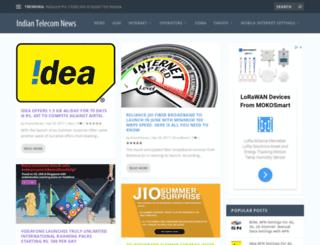 indiantelecomnews.com screenshot