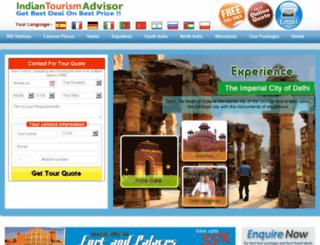 indiantourismadvisor.com screenshot