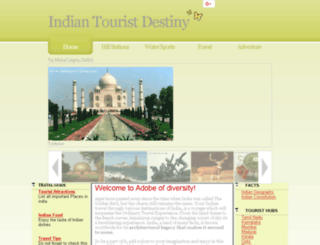 indiantouristdestiny.com screenshot