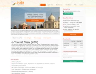 indianvisaonline.org screenshot