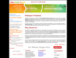 indianwebsitedesigners.com screenshot