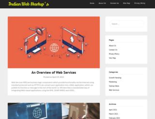 indianwebstartups.com screenshot