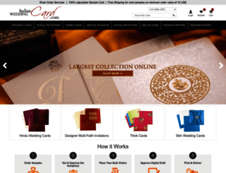 indianweddingcard.com screenshot