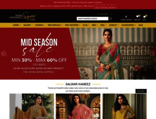 indianweddingsaree.com screenshot