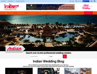 indianweddingsite.com screenshot