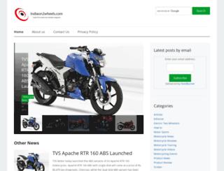 indiaon2wheels.com screenshot