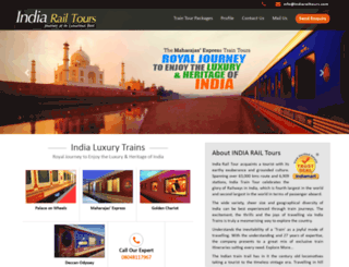 indiarailtours.com screenshot
