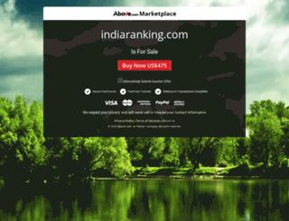 indiaranking.com screenshot