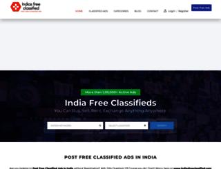 indiasfreeclassified.com screenshot
