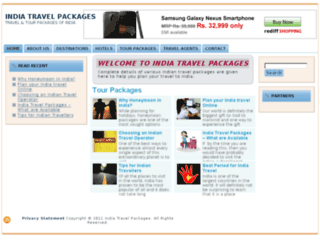 indiatravelpackages.co.in screenshot