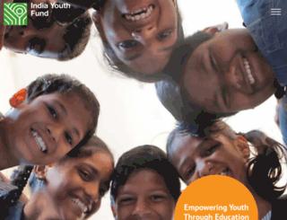 indiayouthfund.org screenshot
