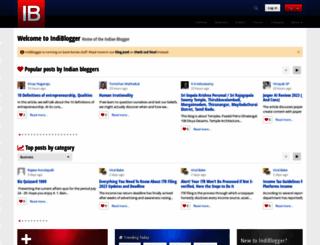 indiblogger.in screenshot