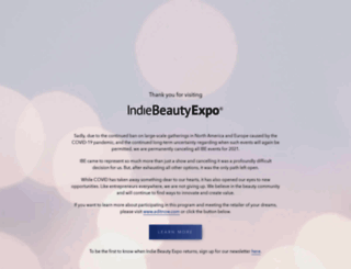 indiebeautyexpo.com screenshot