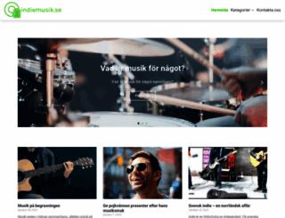 indiemusik.se screenshot