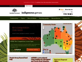 indigenous.gov.au screenshot