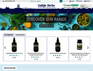 indigo-herbs.co.uk screenshot