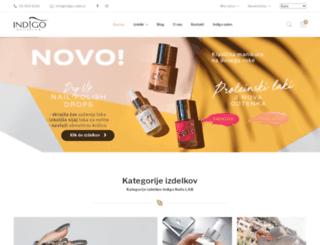 indigo-nails.si screenshot
