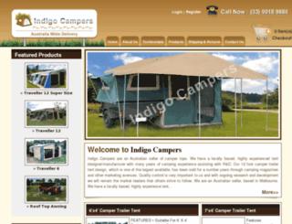 indigocampers.com.au screenshot