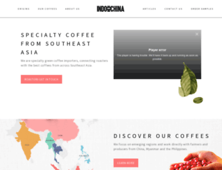 indochinacoffee.com screenshot